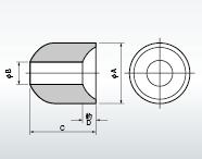 高電圧回路配線用数珠玉碍子