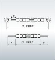 高電圧回路配線用碍子付きリード線